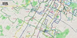 Mappa degli autobus di Austin